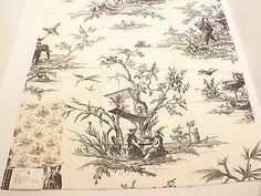"Lee Jofa Pavilion Ebony Fabric Sample 26"" x 25"" 100% Cotton Made in England"