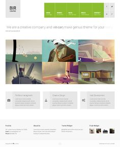 Bir, WordPress Responsive Creative Portfolio Theme