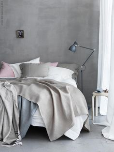 IKEA offers everything from living room furniture to mattresses and bedroom furniture so that you can design your life at home. Check out our furniture and home furnishings! Gray Bedroom, Trendy Bedroom, Home Bedroom, Bedroom Decor, Bedroom Apartment, Pastel Bedroom, Serene Bedroom, Ikea Bedroom, Bedroom Inspo