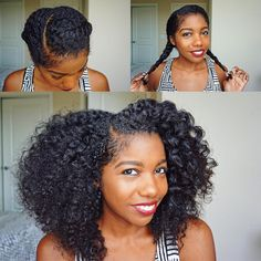 """By @curldaze I wore my hair in this protective style for 3 days because my hair needed a break! And it turned into this super cute twistout when I took…"""