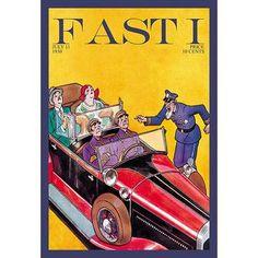 "Buyenlarge Old Cop Reprimands Bourgeois Vintage Advertisement Size: 66"" H x 44"" W x 1.5"" D"