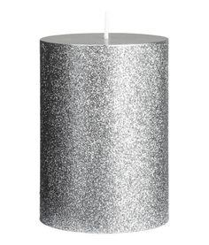 Litet blockljus   Silver/Glittrig   Home   H&M SE