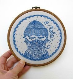 Sea Captain Embroidery - Iron-on Transfer