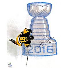 """Phil Kessel Pittsburgh Penguins Fanatics Authentic 2016 Stanley Cup Champions Autographed 16"""" x 20"""" Over Logo Photograph - $111.99"""