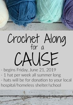 Crochet Along for a Cause 2019 Hooked on Homemade Happiness Love Crochet, Crochet Gifts, Crochet Baby, Knit Crochet, Basic Crochet Stitches, Crochet Basics, Yarn Projects, Crochet Projects, Knitting Patterns