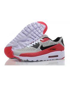 pretty nice 2c211 32122 Nike Air Max 90 Ultra Br Gray Red White Trainer Air Max 90, White P