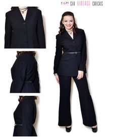 Black Blazer women button down jacket wool blazer vintage 90s clothing vintage blazer suit jacket office clothes  Medium by SixVintageChicks on Etsy