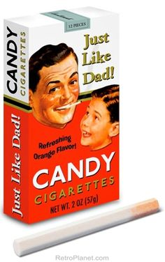 Candy Cigarettes-- I used to buy these, too. Probably contributed to my latter smoking habit. : ) Candy Cigarettes-- I used to buy these, too. Probably contributed to my latter smoking habit. Pub Vintage, Photo Vintage, Vintage Candy, Funny Vintage, Vintage Signs, Vintage Ladies, Candy Cigarettes, Quitting Cigarettes, Electronic Cigarettes