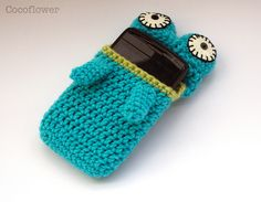 Crochet Phone case by Coco_Flower, ♪ ♪ ... #inspiration_crochet #diy GB