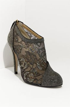 Valentino Crystal Embellished Bootie #fashion #shoes
