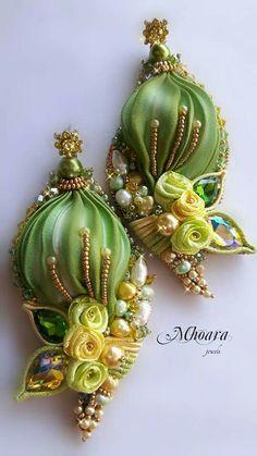 ' Scent of Bangkok ' shibori silk, soutache, bead embroidery Mhoara Jewels