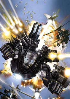 War Machine – (Marvel – Iron Man) – James Rhodes first appeared in 1979 in the pages of Iron Man. Years later, after Tony fell back into alcoholism Rhodes took over as Iron Man for a while. Comic Book Characters, Marvel Characters, Comic Character, Comic Books Art, Comic Art, Marvel Comics, Marvel Heroes, Marvel Avengers, Secret Avengers