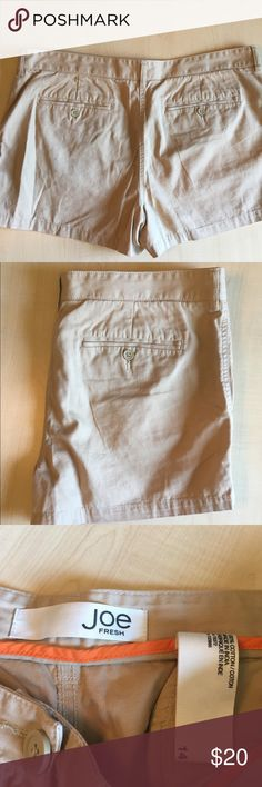 Joe Fresh Khaki Casual Shorts JOE Fresh Khaki Shorts  Plus Size 14 Material: 100% Cotton  Condition: no rips no tears -R- Joe Fresh Shorts