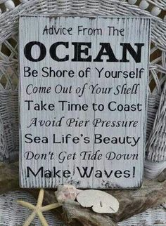 """this """"beachy advice"""" image is a little lame, I guess, but I pinned it because I think it does capture some of the power of freedom inherent in the ocean, and that power is, I think, what attracts Eva to the ocean both as a child and again as an adult living with Mimi."""