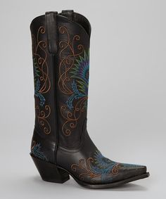 Take a look at this Black Peacock Vaquero - Women by Tony Lama on #zulily today! Awh! Too late for the wedding!