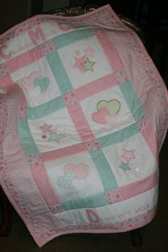 Custom made Personalized Baby Girl Applique by Love2BeStitchin