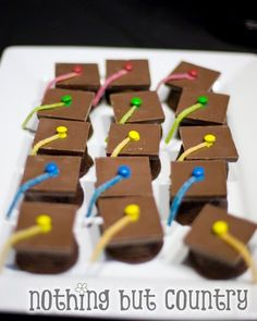 Chocolate grad caps