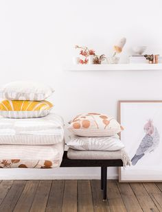 Ink & Spindle's new collection of fabrics, cushions and homewares