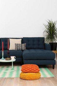 canapé composable sectionnel, beaux coussins radiants