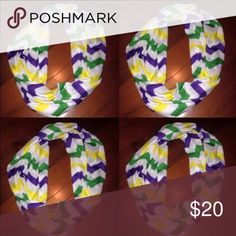 Mardi Gras Scarves Purple, green and gold Infinity Scarves. Accessories Scarves & Wraps