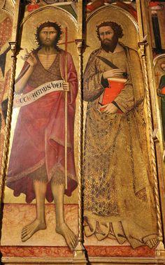 Andrea Vanni - Madonna col Bambino e Santi, dettaglio  - 1400 - Siena, Battistero di San Giovanni