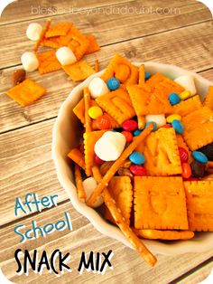Super FUN after school snack mix!