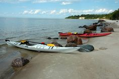 far off shores-Elk Island Grand Beach Manitoba Canada-deserted beach and a kayak trip by Mike Eggett-travel category-shot with Nikon D60 and...