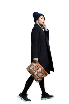 Asian bag lady