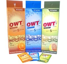 OWT Effervescent Powder – Regular, Lemon and Orange Flavor Benefits OWT Effervescent Powder – For relieving acidity. Provides effective relief from acidity in seconds. Gentle on your stomuch. Available in different flavors. (Regular, Lemon and Orange) Our Brand Name : OWT Powder Presentation: 5 g sachets in a Dispenser of 60 Sachets.