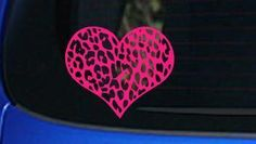 Leopard Print Heart Car Decal Sticker Love Girl Sexy Lips Hot Pink | eBay