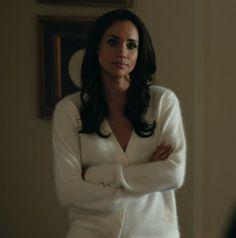 """Rachael's Burberry Epaulette Detail Cashmere Cardigan Suits Season 3, Episode 1: """"The Arrangement"""""""