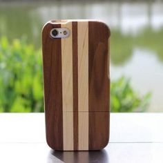 Simple stripe wooden iPhone case