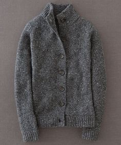 MUST HAVE Dark Gray Chunky Wool-Blend Cardigan - Women | zulily