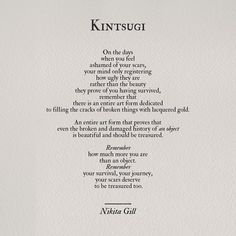 Kintsugi was the 1st step in my Recovery. Gill nails it.