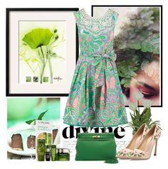 """756"" by misaflowers ❤ liked on Polyvore featuring Derhy, Lancôme and Giambattista Valli"