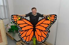 Large colorful LEGO butterfly