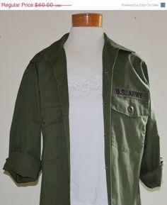 ON SALE Vintage Military US Army Shirt Vietnam by founditinatlanta, $54.00