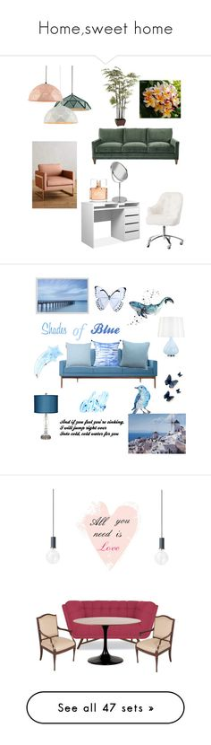 """""""Home,sweet home"""" by arina-bianca ❤ liked on Polyvore featuring interior, interiors, interior design, home, home decor, interior decorating, Pier 1 Imports, Anthropologie, PBteen and Givenchy"""