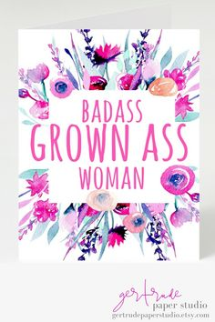 4cb6ec4c8239 Hell Yeah! The perfect birthday card for a STRONG ASS WOMAN. funny greeting  cards