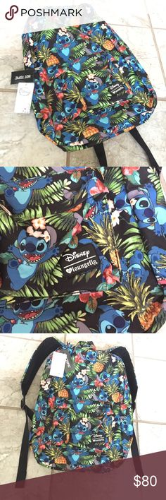 """🆕 Loungefly Disney Stitch Bag Backpack tropical NWT Loungefly Disney tropical stitch bag / backpack with one front zipper pocket, main zipper closure, and a pocket on the inside with lots of space. Adorable bag with flowers , pineapples and stitch!  Bag body measures approximately 18""""x12.5""""x4.5""""  🌸🌵BUNDLES / OFFERS WELCOME🌵🌸 Disney Bags Backpacks"""