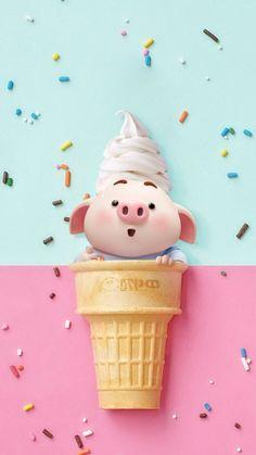 Wallpaper Stich, Pig Wallpaper, Snoopy Wallpaper, Disney Wallpaper, Flower Wallpaper, This Little Piggy, Little Pigs, Cute Piglets, 3d Art