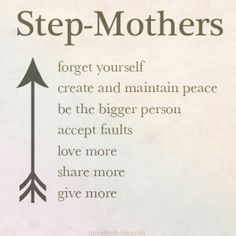 Step-mother troubles?