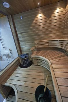 Cozy Sauna Shower Combo Decorating Ideas - Page 9 of 32 Portable Steam Sauna, Sauna Steam Room, Sauna Room, Saunas, Sauna Lights, Floor Design, House Design, Building A Sauna, Sauna Shower