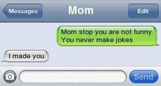 When Mom set the record straight: