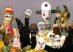 the raw art puppets of Paul Klee | om pom happy + caroline juskus