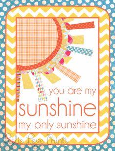 Cute Sunshine Printables - set of four