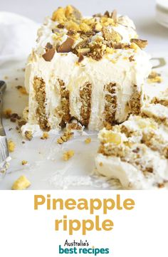 Quick, easy and make-ahead! #pineapple #pineapplerecipes #dessert #cake #no-bake #honeycomb #chocolate #australia #australian #australianrecipes