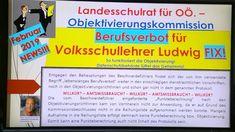 "VS-Lehrer Ludwig - Berufsverbot FIX! Landesschulrat für OÖ erteilt ""lebe... Ludwig, Event Ticket, Wordpress, Videos, Bill Of Rights, Linz, Life"