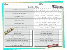 Preschool Progress Report Template  Report Card