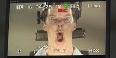 Benedict Cumberbatch looked totally insane doing motion-capture work for 'The Hobbit'
